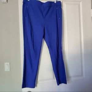 Jules and Leopold Stretchy work Pants Royal Blue L